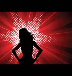 female starburst vector image vector image