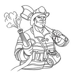 fireman resize vector image