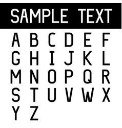 font set black simple style letters alphabet vector image