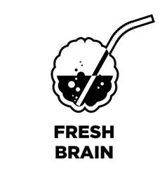 Fresh brain idea creative icon smart intelligence vector