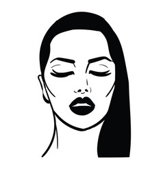 Girl with closed eyes vector