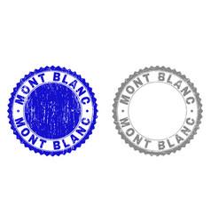 Grunge mont blanc scratched watermarks vector
