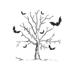 Halloween sketch concept vector