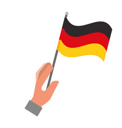 hand holding germany flag isolated vector image