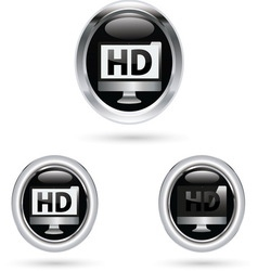 HD BLACK ICON vector image