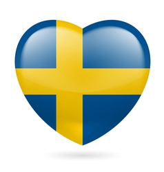 Heart icon of Sweden vector