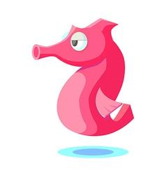 Icon seahorse vector