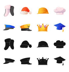 Isolated object of headwear and cap logo vector