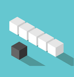 Isometric social outcast cube vector