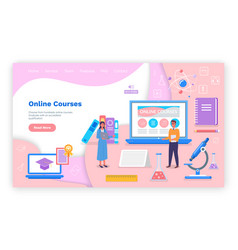 landing page educational website online vector image