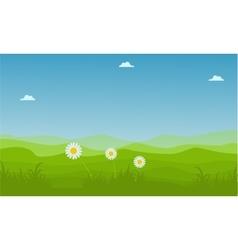 landscape hill at spring backgrounds vector image