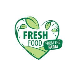 Logo fresh food from the farm vector