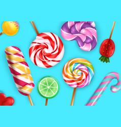 lollipop realistic seamless pattern vector image