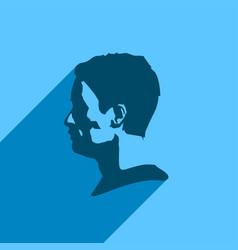 Man avatar profile view vector