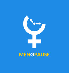 menopause icon awareness woman fertility age vector image