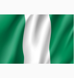 Nigeria realistic flag vector