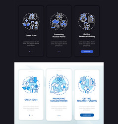 Nuclear energy promotion onboarding mobile app vector