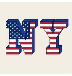 NYC typography t-shirt graphics vector image