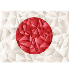 origami flag vector image