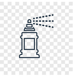 paint spray concept linear icon isolated on vector image