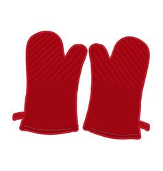 Pair of kitchen gloves vector