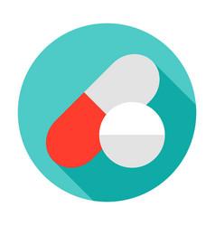 pill capsule circle icon vector image