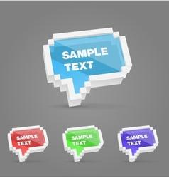 Pixel style bubbles set vector image vector image