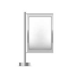 realistic detailed 3d blank white trade stand vector image