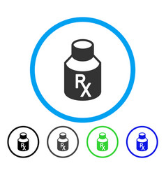 receipt vial rounded icon vector image