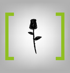 rose sign black scribble vector image