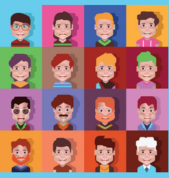 set high quality avatars 02 vector image