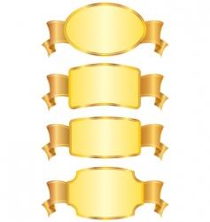shield design elements vector image