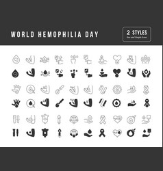 Simple icons world hemophilia day vector