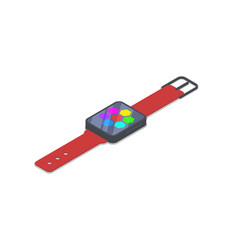 smart watch device isometric 3d icon vector image