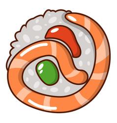 sushi japan icon cartoon style vector image