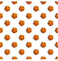 swirl cookies pattern seamless vector image