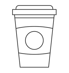 Take out coffee cup icon outline style vector