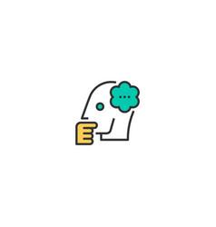 thinking icon design startup icon design vector image