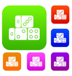 three dice cubes set collection vector image
