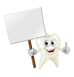 tooth man holding a sign vector image