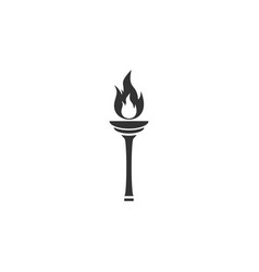 torch icon flat vector image