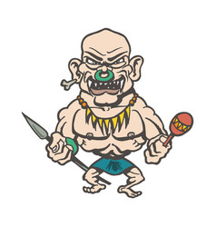 Tribes of inland cartoons cartoon character vector