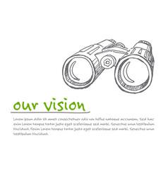 vison - minimalist concept ilustration vector image