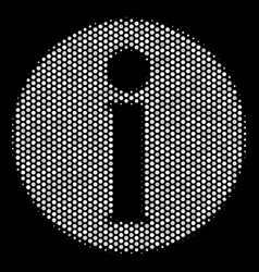 White pixel info icon vector