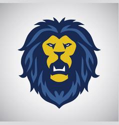 wild lion roar logo vector image