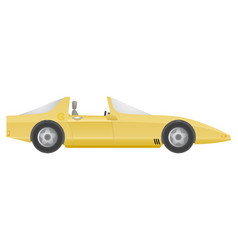 yellow car vector image