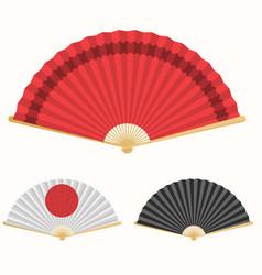 japan folding fan japanese culture symbol hand vector image