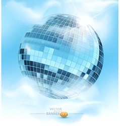 mirrored disco ball vector image
