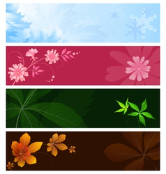 Seasonal banners vector image