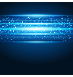 Smooth technology light lines background vector image vector image
